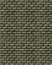 195 X 70MM X1MM HO OO SCALE TREATED BUMPY BRICK WALL PAPER SHEETS 3D LOOK & FEEL