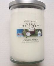 Yankee Candle WORLD JOURNEYS PACIFIC COCONUT 20 OZ 2 WICK TUMBLER HTF Retired