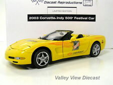 FRANKLIN MINT 2003 CORVETTE INDY 500 FESTIVAL CONVERTIBLE - W/ BOX AND PAPERWORK