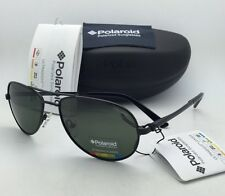New POLAROID Sunglasses U9306 B 59-17 Black Aviator Frame with Green POLARIZED