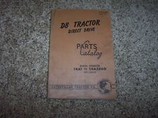 Caterpillar Cat D8 Tractor 14A1- 14A3860 Factory Parts Catalog Manual