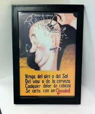 GENIOL Aspirin Framed Advertising Poster - NEW!!!!!!!
