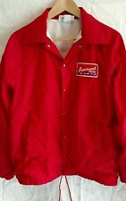 RARE Vintage Men's Medium K-Brand nylon jacket/windbreaker Red Le Roy Feed Mill