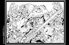 Dan Prado- PradoInkworks Original Signed Artwork - Battle Chasers, 2 Page spread