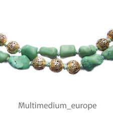 Türkis Halskette Silber Steinkette 30er 30s turquoise china necklace silver