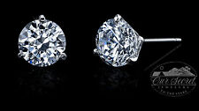 2 ct tw Martini Earrings Top Russian Brilliant CZ Moissanite Simulant SS .925