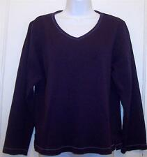 OSCAR DE LA RENTA Top Sz S Small Purple Crew Neck Cotton