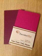 Extra Small Notepad Notebook Two Tone Colours A7 Purple