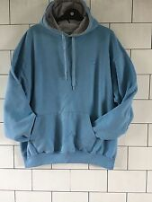 MENS TRASHED VINTAGE RETRO BLUE CHAMPION SWEATSHIRT SWEATER HOODIE SIZE XL