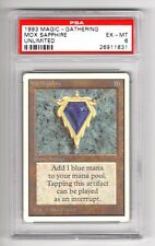 1993 MOX SAPPHIRE UNLIMITED PSA 6 (EX-MT) MAGIC THE GATHERING RARE AUTHENTIC