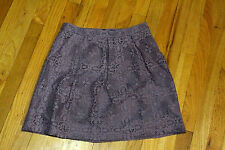 THE LIMITED PLEATED LACE SKIRT   LINED PETITE SIZE S  COTTON/NYLON PURPLE NWT