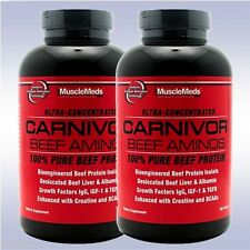 MUSCLEMEDS CARNIVOR BEEF AMINOS (2-PACK: 300 TABLETS EA.) bcaa creatine protein
