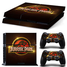 PS4 Playstation 4 Console Skin Decal Sticker Jurassic Park + 2 Controller Skins