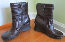 Aldo brown BUMPAH ankle boots size 39 wedge booties zipper