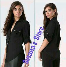 NWT BEBE Fiorella Shirt SIZE XXS Essential in a work-worthy heavyweight, Classy!