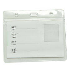 20X Clear Transparent PVC Plastic Pocket Wallet ID Card Pass Badge Holder Cases