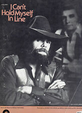 Johnny Paycheck & Merle Haggard sheet music I Can't Hold Myself in Line '73 3 pp