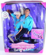 NIB BARBIE DOLL 1997 OLYMPIC SKATER USA BARBIE KEN