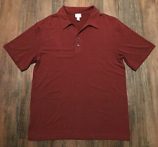 ARMANI COLLEZIONI Men's Stretch Polo Shirt • Maroon/Burgundy • LARGE