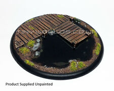 120mm Round Lipped Bayou Boardwalk Resin Base - Warmachine Malifaux Water Effect