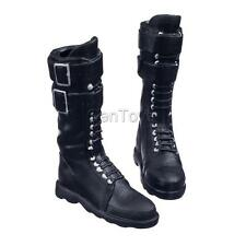 "1/6 Lace Up Martin Boots Shoes for 12"" Kumik Phicen CY Girl Figures Black"