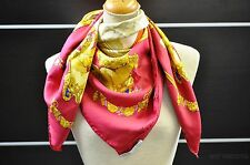 "Authentic HERMES Scarf ""HOMMAGE A CHARLES GARNIER"" Silk Red 25815"