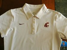 NWT NIKE Washington State Cougars Women's Polo Shirt Size Medium White
