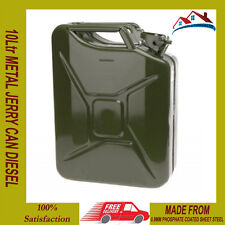 NEW 10 L LITER JERRY METAL CAN FOR PETROL DIESEL OIL FUEL WATER CONTAINER