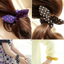 Woman Girl Rabbit Ear Scrunchie Hair band rope Elastic Tie Ponytail Holder