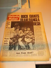 MELODY MAKER 1971 SEPTEMBER 4 CONCERT FOR BANGLADESH STEVE MILLER ROBERT WYATT