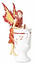 Cider Faery.Cute Tea Cup Fairy Statue Figurine.Amy Brown Art Licensed Collection