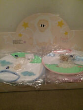 10 BNWT Russ Berrie Baasley Baby Girls & Boys Bibs Blue & Pink Wholesale Joblot