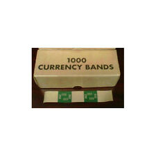 1000 Count Currency Bands Green 250 Denomination Kraft Self Adhesive