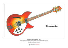 George Harrison's 1964 Rickenbacker 360/12 Ltd Edition Fine Art Print A3 size