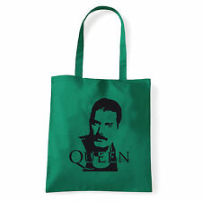 Art T-shirt, Borsa shoulder Queen Freddy Mercury, Verde, Shopper, Mare