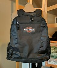 Harley Davidson black Deluxe Backpack with laptop Computer Pouch mesh unisex