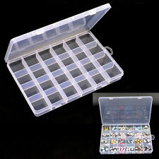 24 Grids Storage Empty Bottle Box Case Pot For Nail Art Rhinestone Tips Jewelry