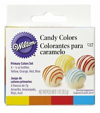Wilton Food Color Icing Frosting Fondant Decorating Set Primary Four 1/4 Oz Jars