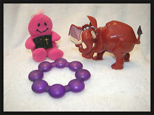 baby toys Tarzan movie elephant wind up tail he shakes  teether and smiley doll