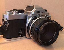 Nikon FM 35mm SLR Film Camera with 50 mm f2 Nikkor lens