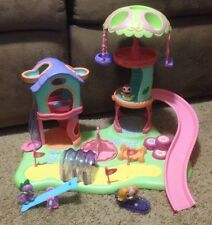 2007 Littlest Pet Shop Whirl Around Playground Play Yard Swings Dog Park LPS