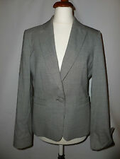 LADIES AUSTIN REED BLACK AND WHITE WOOL   BLAZER/ JACKET  SIZE  UK 8/10