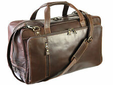 Prime Hide Outback Range Soft Leather Holdall Weekend Gym Bag By Firelog - Brown