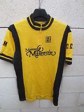 VINTAGE Maillot cycliste C.C.M MAISONS LE MARENSIN Burdigala Sport années 70 L