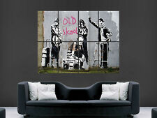BANKSY GRAFFITI STREET ART OLD SCHOOL  GIANT POSTER ART PICTURE PRINT LARGE