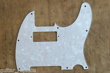 Golpeador Pickguard Telecaster Hot Rod  Blanco Perlado Mini Humbucker 3 Plies