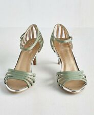 NEW 7.5 M Anthropologie Seychelles Leather Dress Heels Song & Dance Shoes Sandal