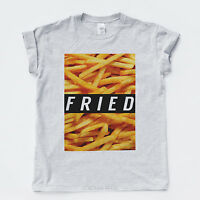 FRIED NEW T SHIRT Wasted Damage Chips Fresh Swag Criminal Villain Tee S - XXL