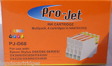 Any 4 Non OEM Compatible Projet Cartridges T611 T612 T613 T614
