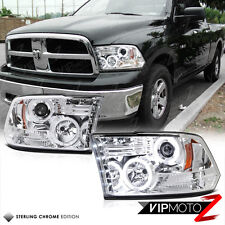 10 11 12 13 CCFL Chrome Halo Projector Headlight DODGE RAM 2500 3500 2009-2017